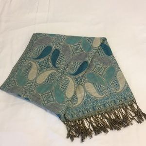 Accessories - Blue Printed Pashmina